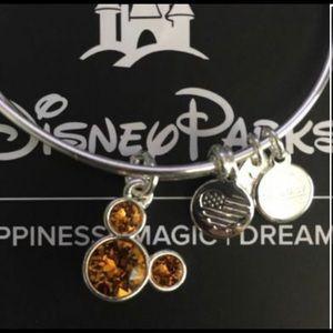 ALEX & ANI Disney Parks November Silver Bangle NWT